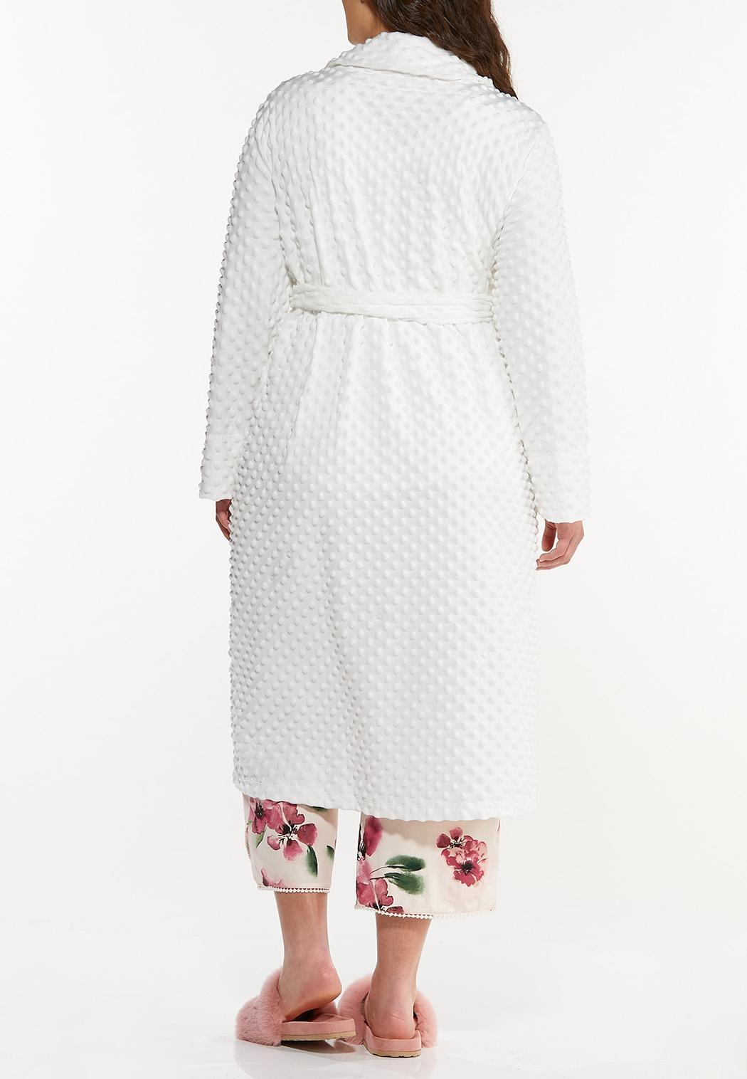 Plus Size Textured Cozy Robe (Item #44591759)