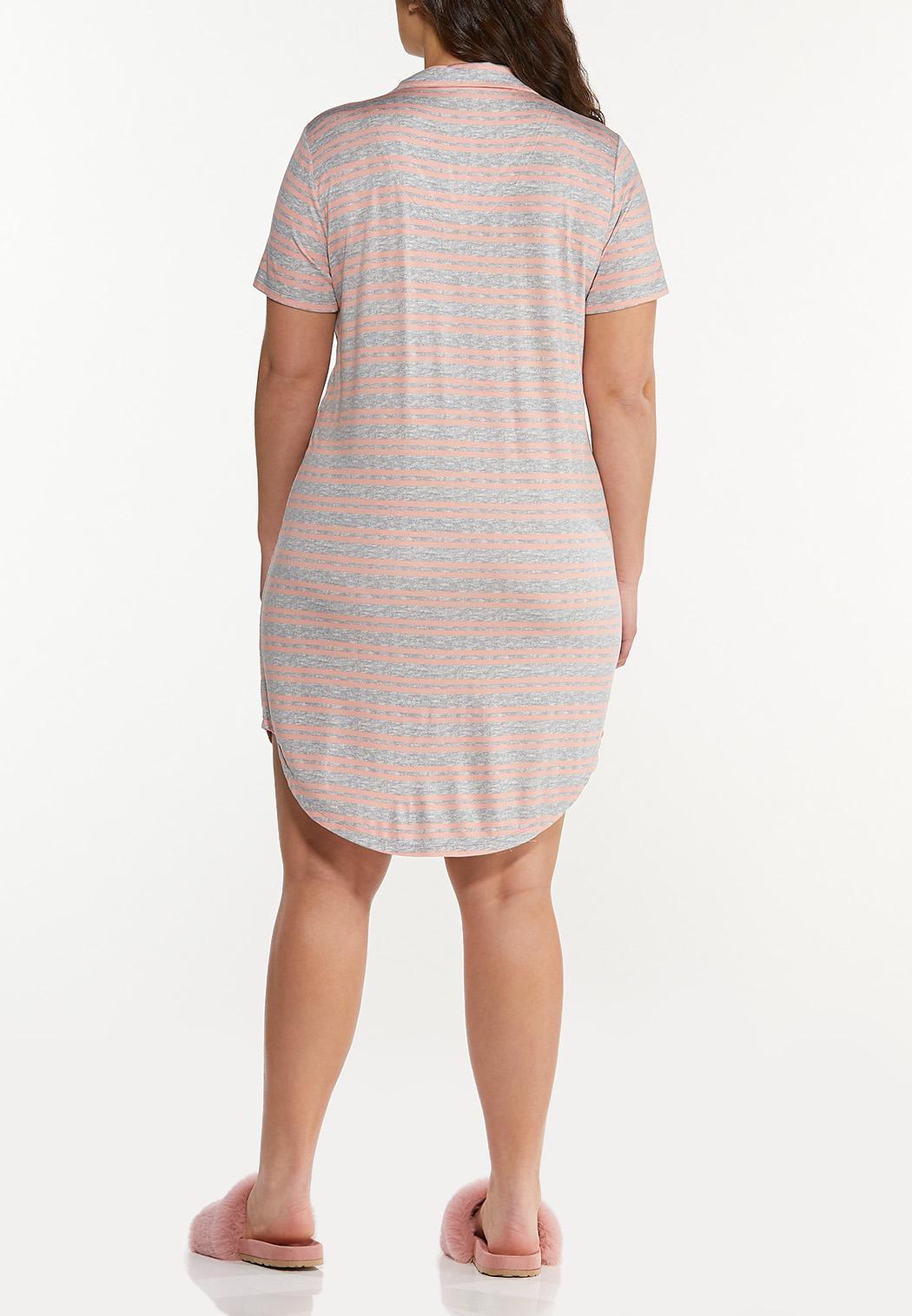 Plus Size Striped Sleep Tee (Item #44591840)