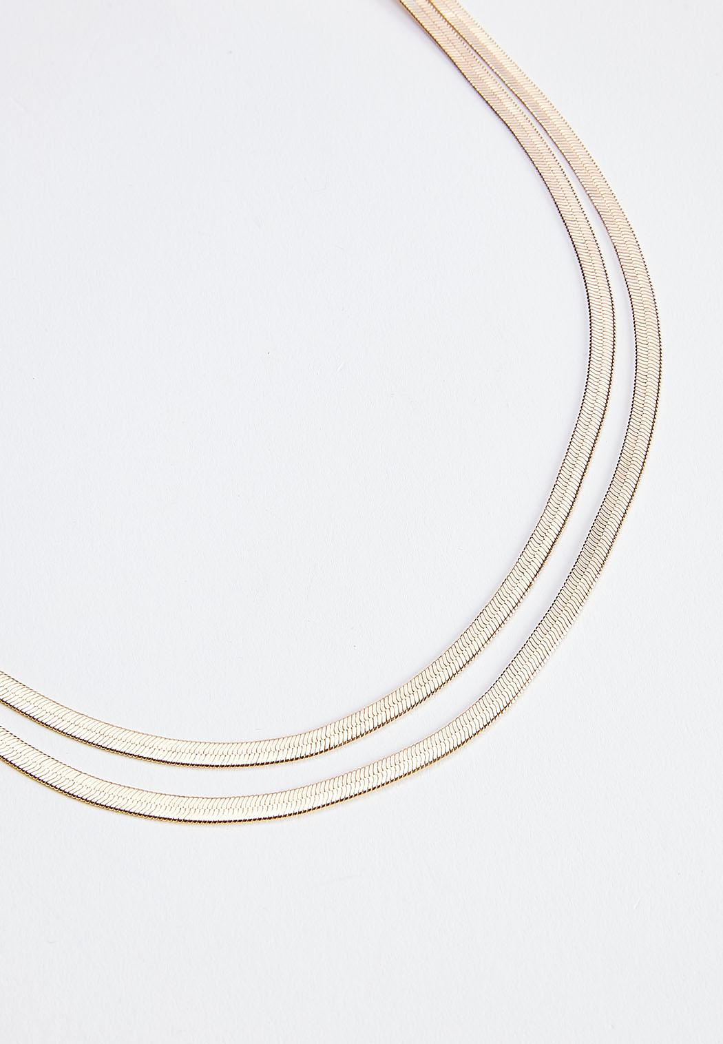 Double Layer Gold Necklace (Item #44592163)