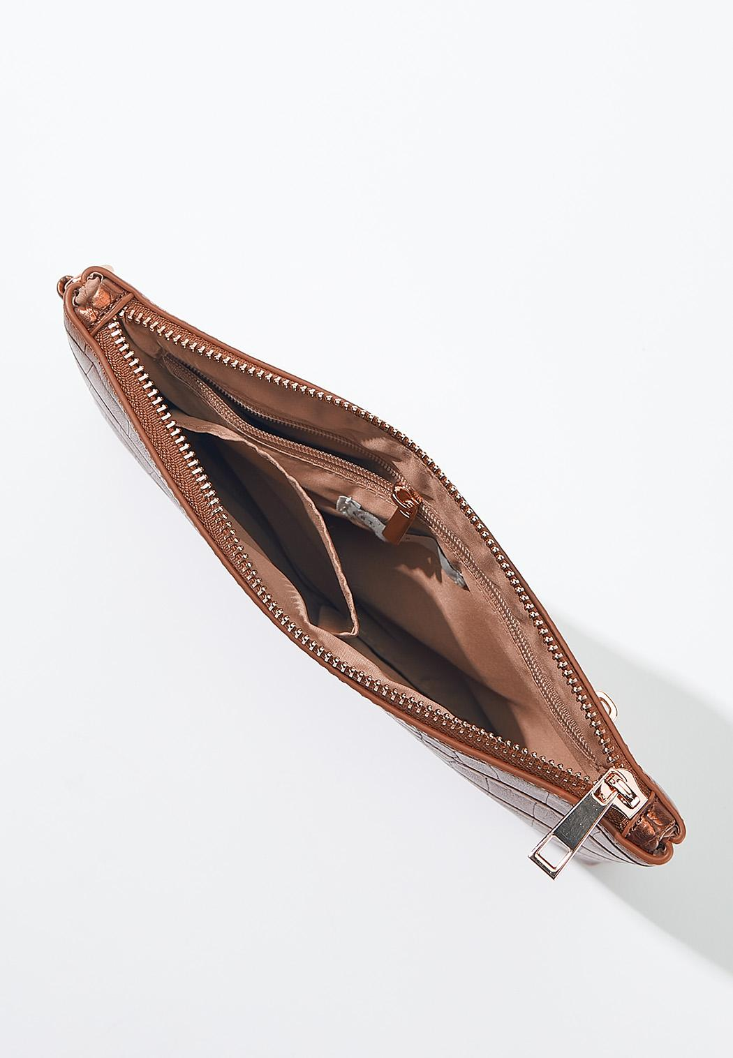 Metallic Croc Wristlet (Item #44592244)