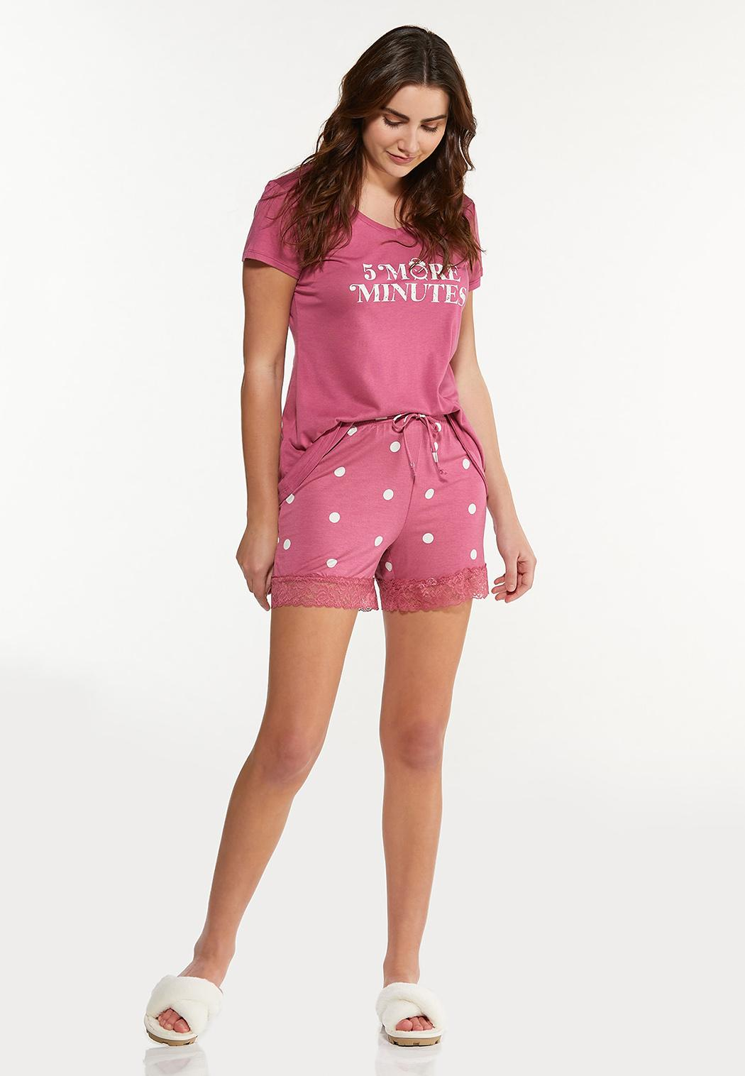 Dotted Lace Sleep Shorts (Item #44592263)