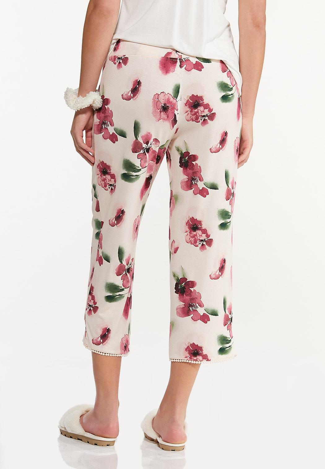 Cropped Floral Sleep Pants (Item #44592490)