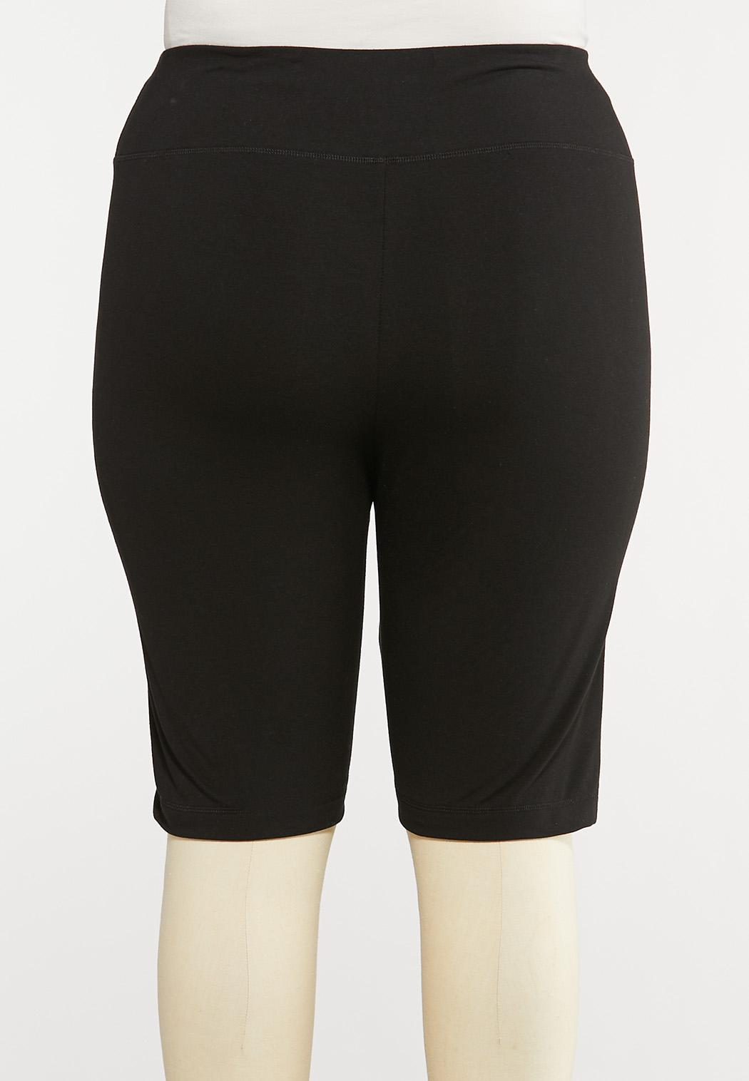 Plus Size Pull-On Stretch Shorts (Item #44592525)