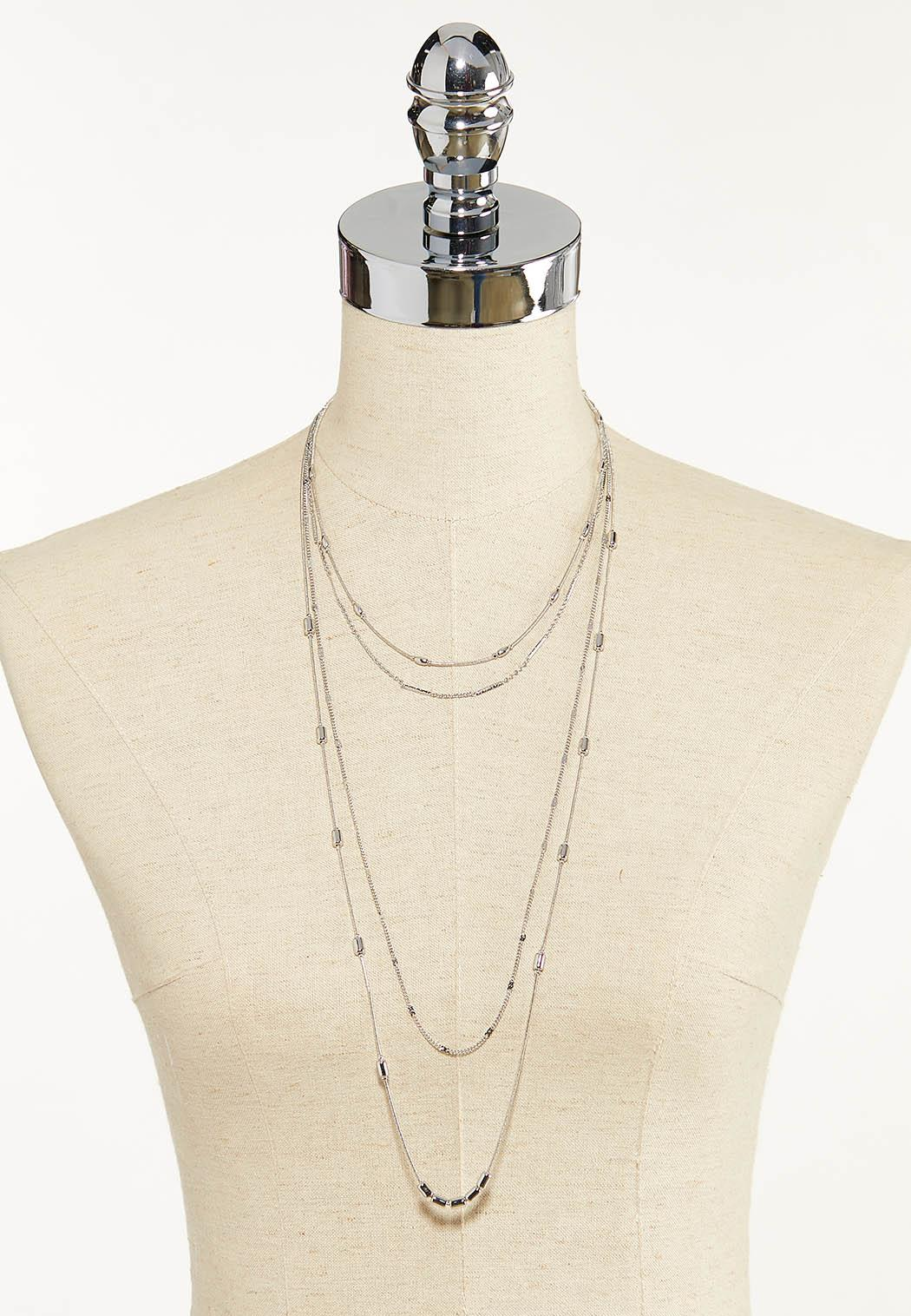Delicate Mixed Chain Necklace (Item #44592593)