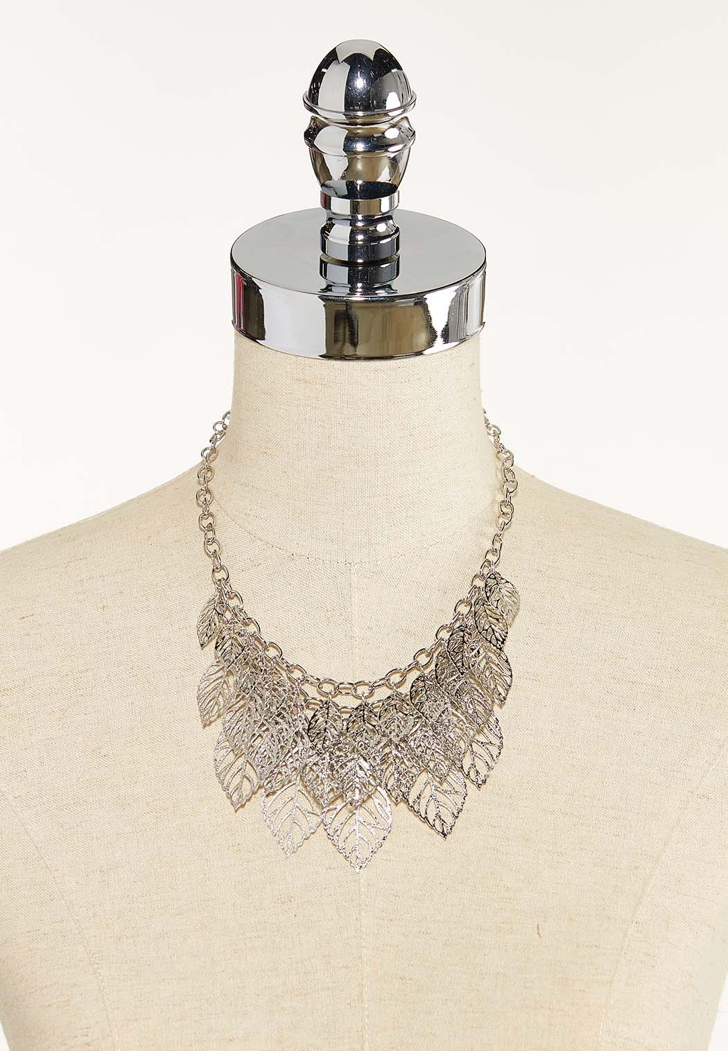 Layered Leaf Chain Necklace (Item #44592602)