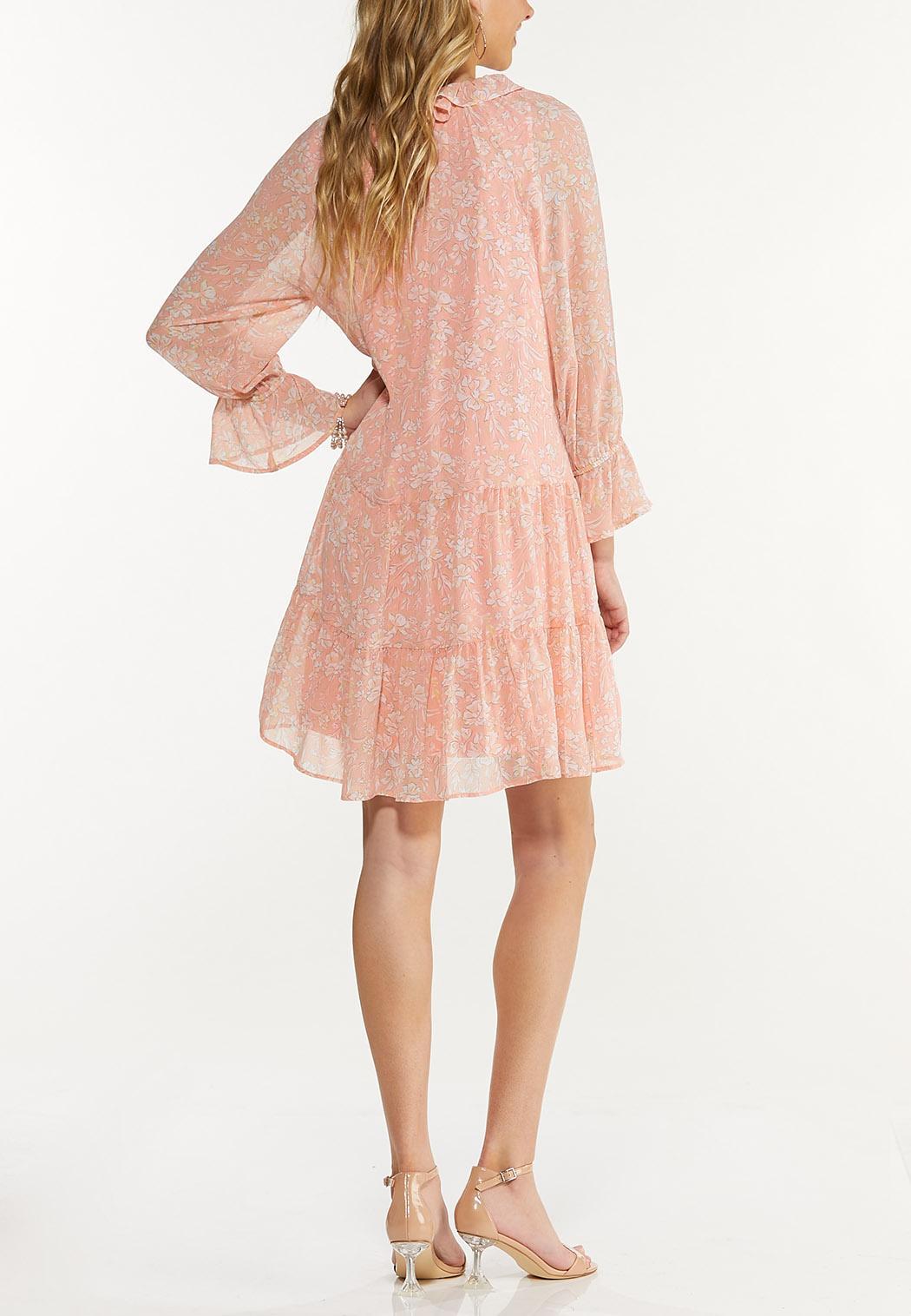 Peach Floral Babydoll Dress (Item #44592784)