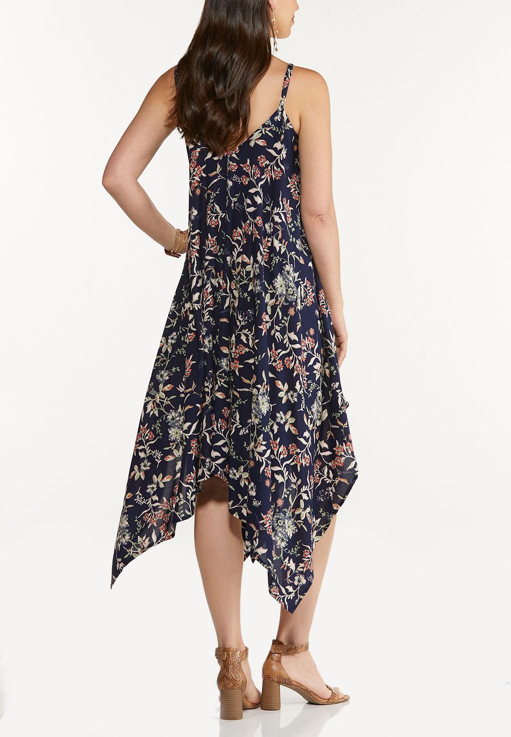 Plus Size Floral Hanky Midi Dress (Item #44592835)