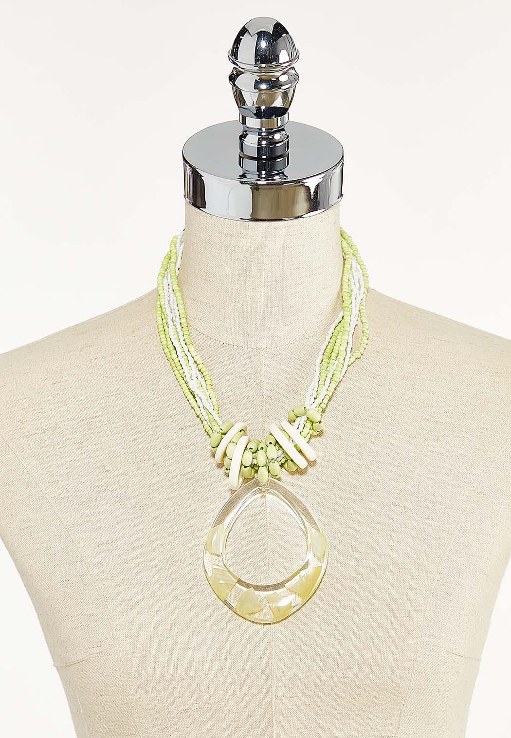 Lucite Ring Pendant Necklace (Item #44593421)