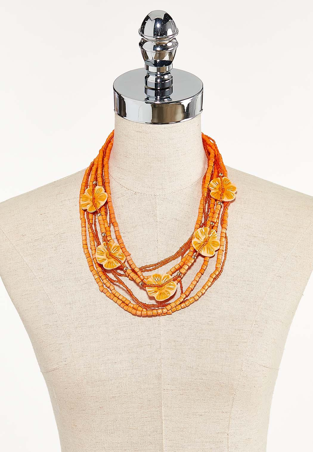Layered Wood Bead Necklace (Item #44593460)