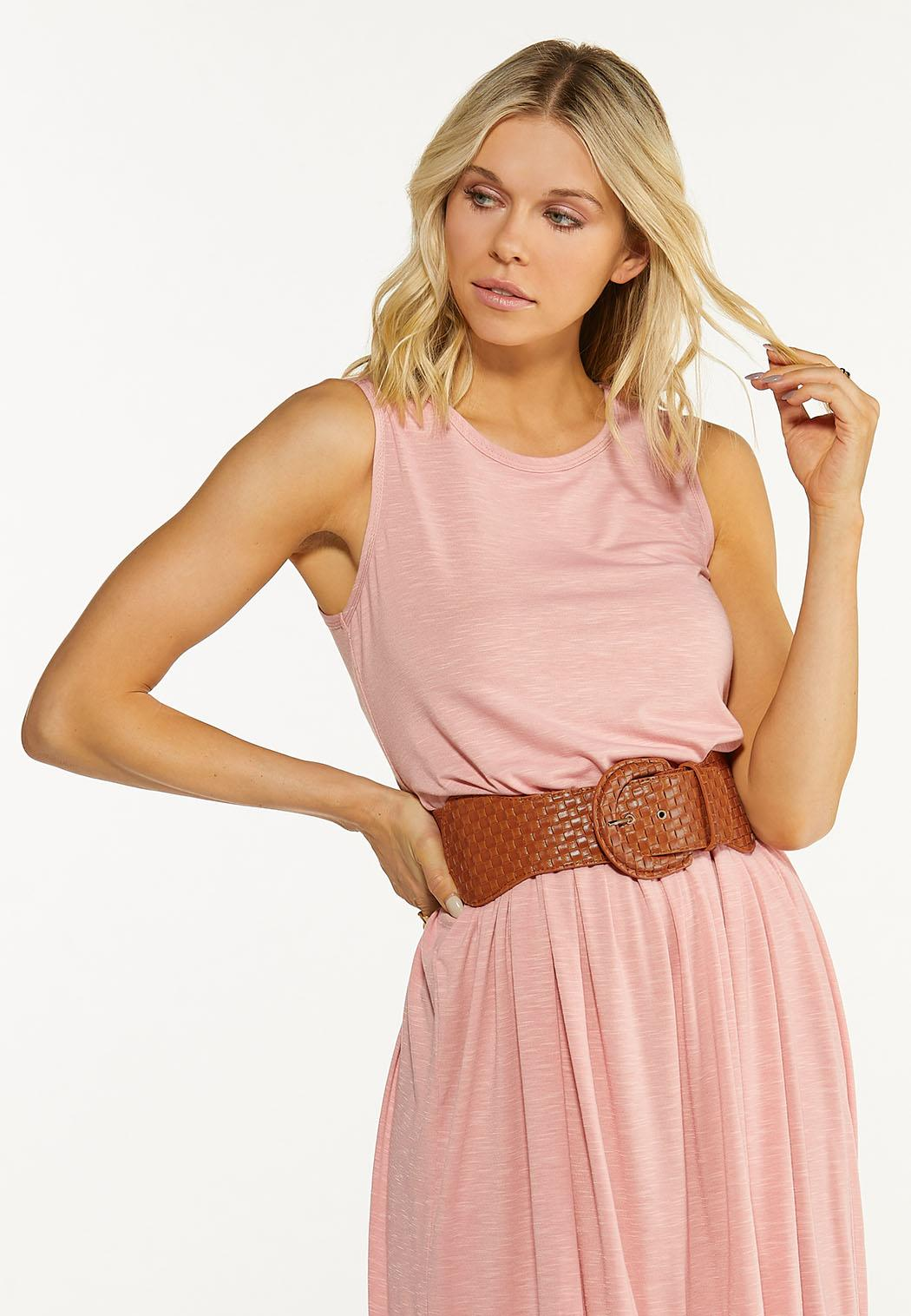 Plus Size Woven Buckle Stretch Belt (Item #44593879)