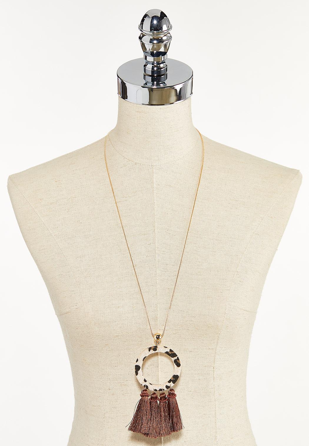 Leopard Ring Tassel Necklace (Item #44594568)