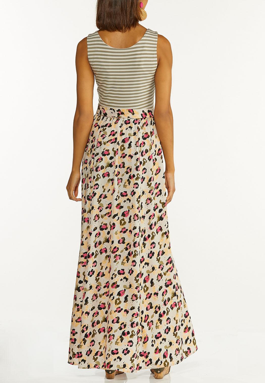 Plus Size Stripe Animal Maxi Dress (Item #44595392)