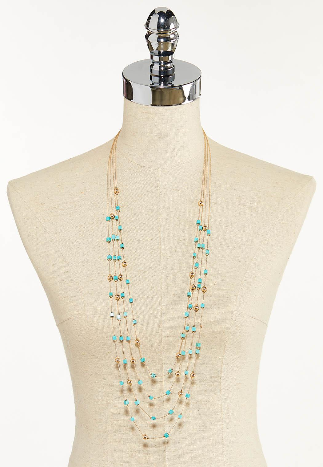 Layered Square Bead Necklace (Item #44595824)