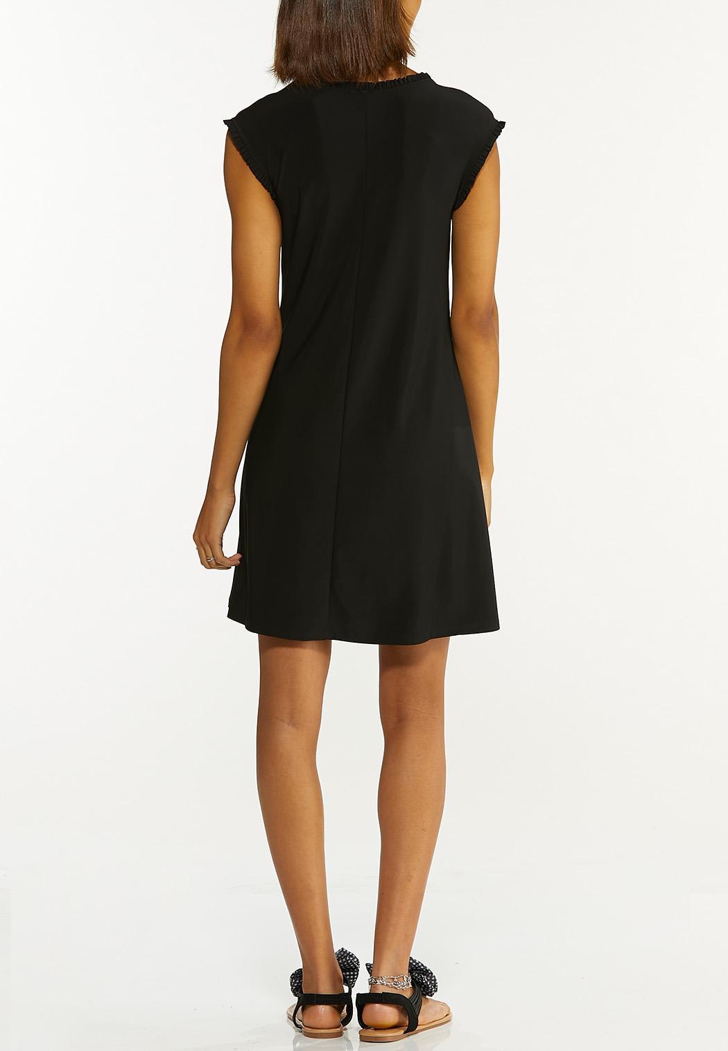 Plus Size Black Ruffled Dress (Item #44595921)