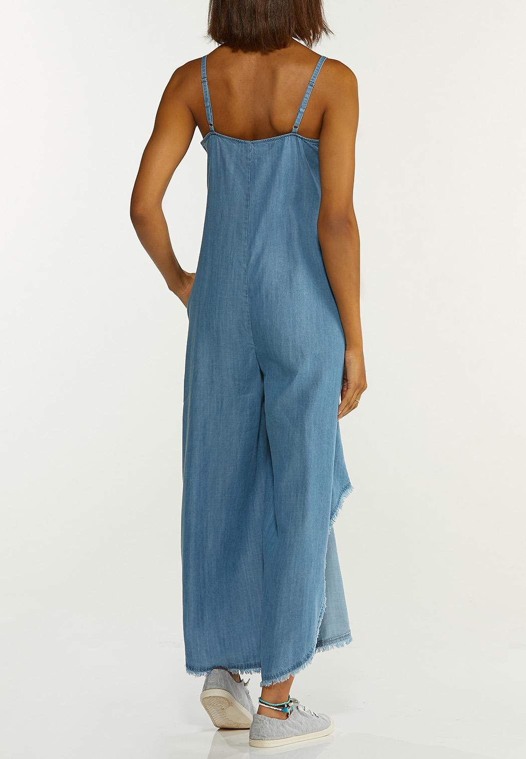Plus Size Chambray Genie Jumpsuit (Item #44596121)
