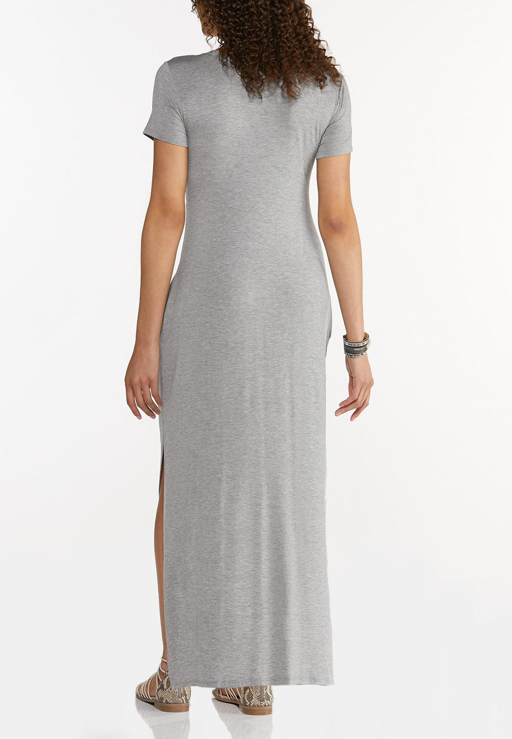 Plus Size Knotted Tee Maxi Dress (Item #44596236)