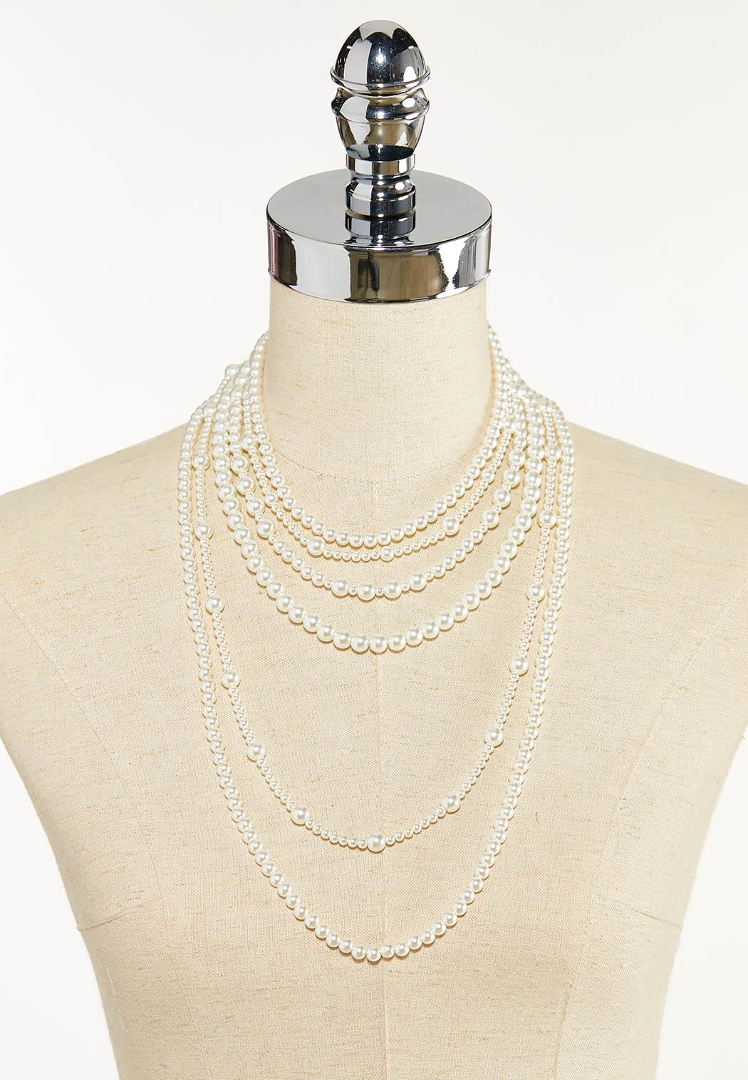Layered Pearl Necklace (Item #44596273)