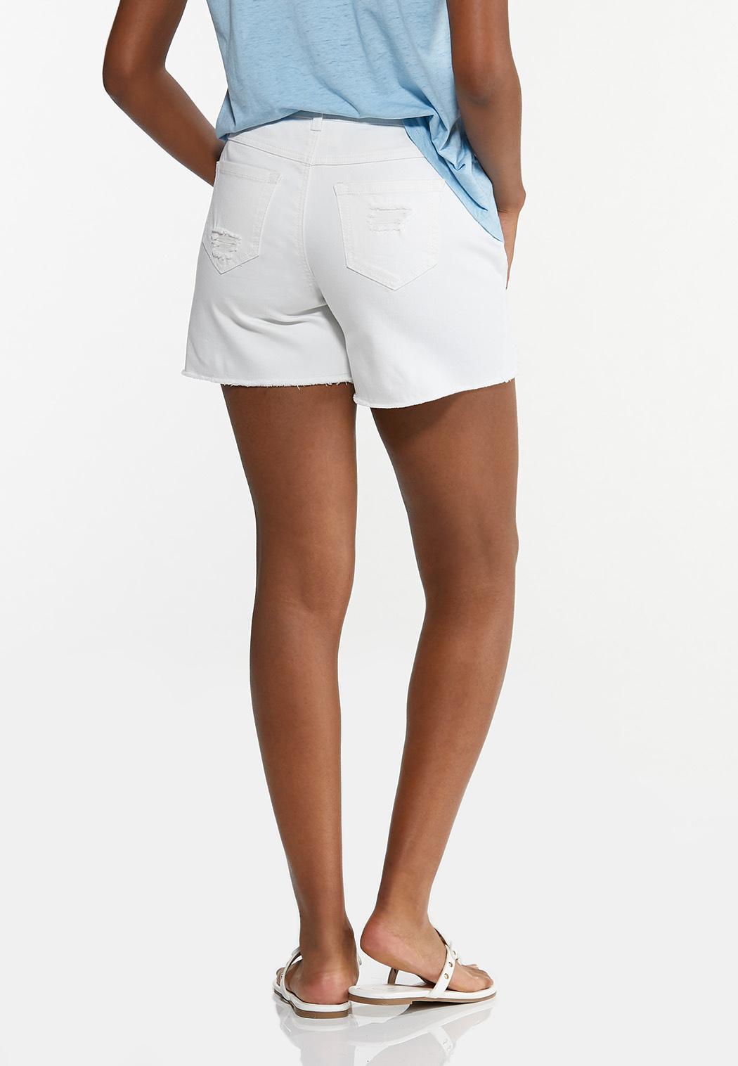 Hint Of Eyelet Denim Shorts (Item #44596534)