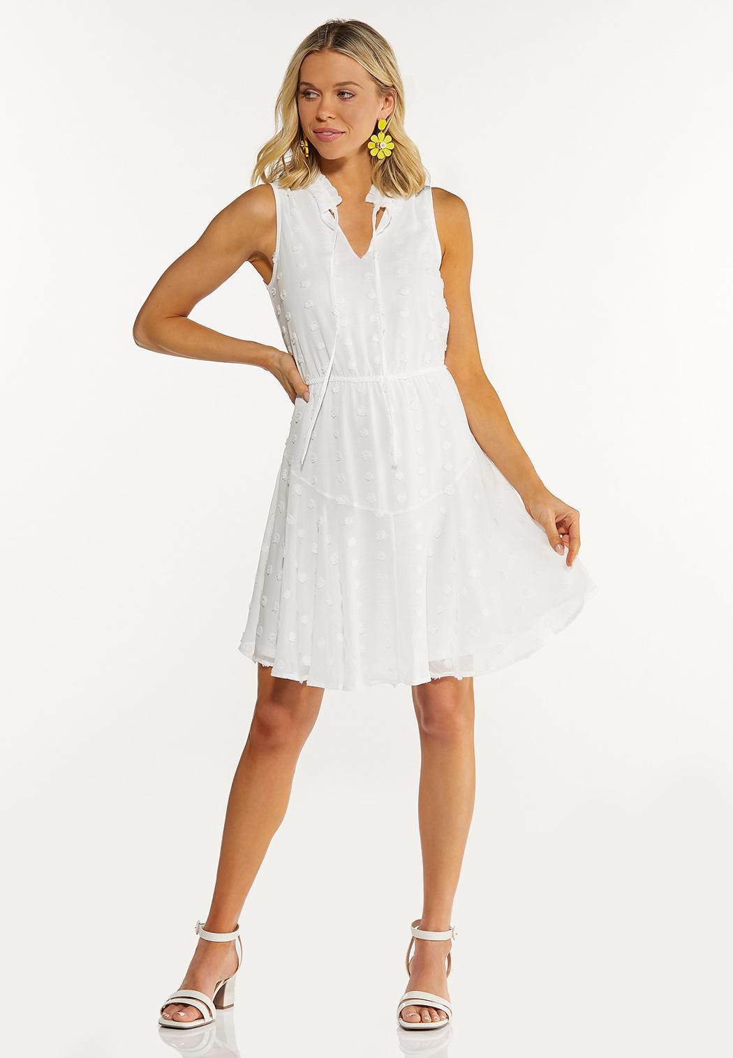 Plus Size Tiered Textured Dress (Item #44596570)