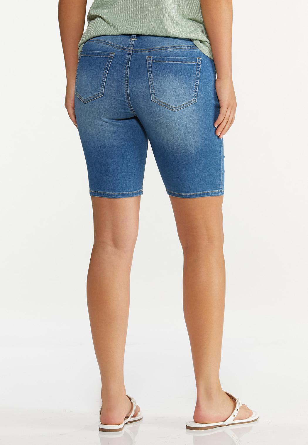 Stretch Denim Shorts (Item #44596667)