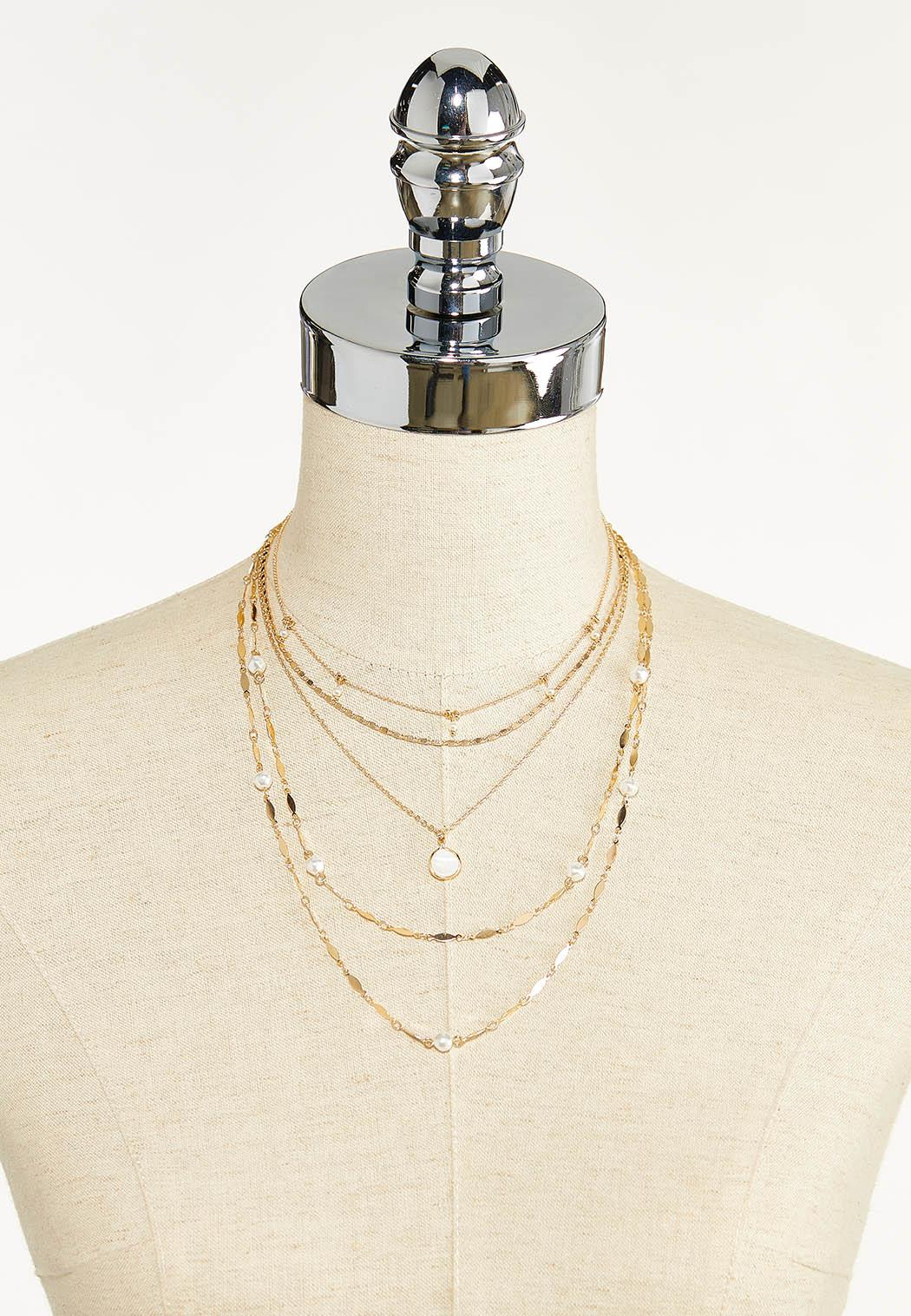 Delicate Layered Chain Necklace (Item #44596766)