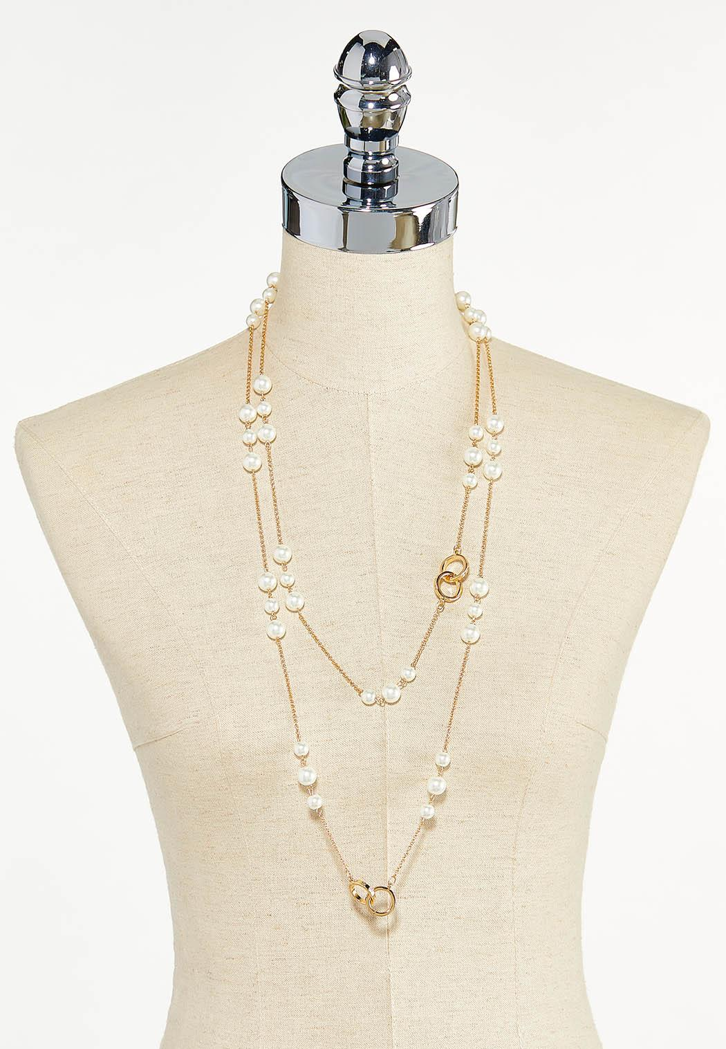 Floating Pearl Gold Necklace (Item #44596820)