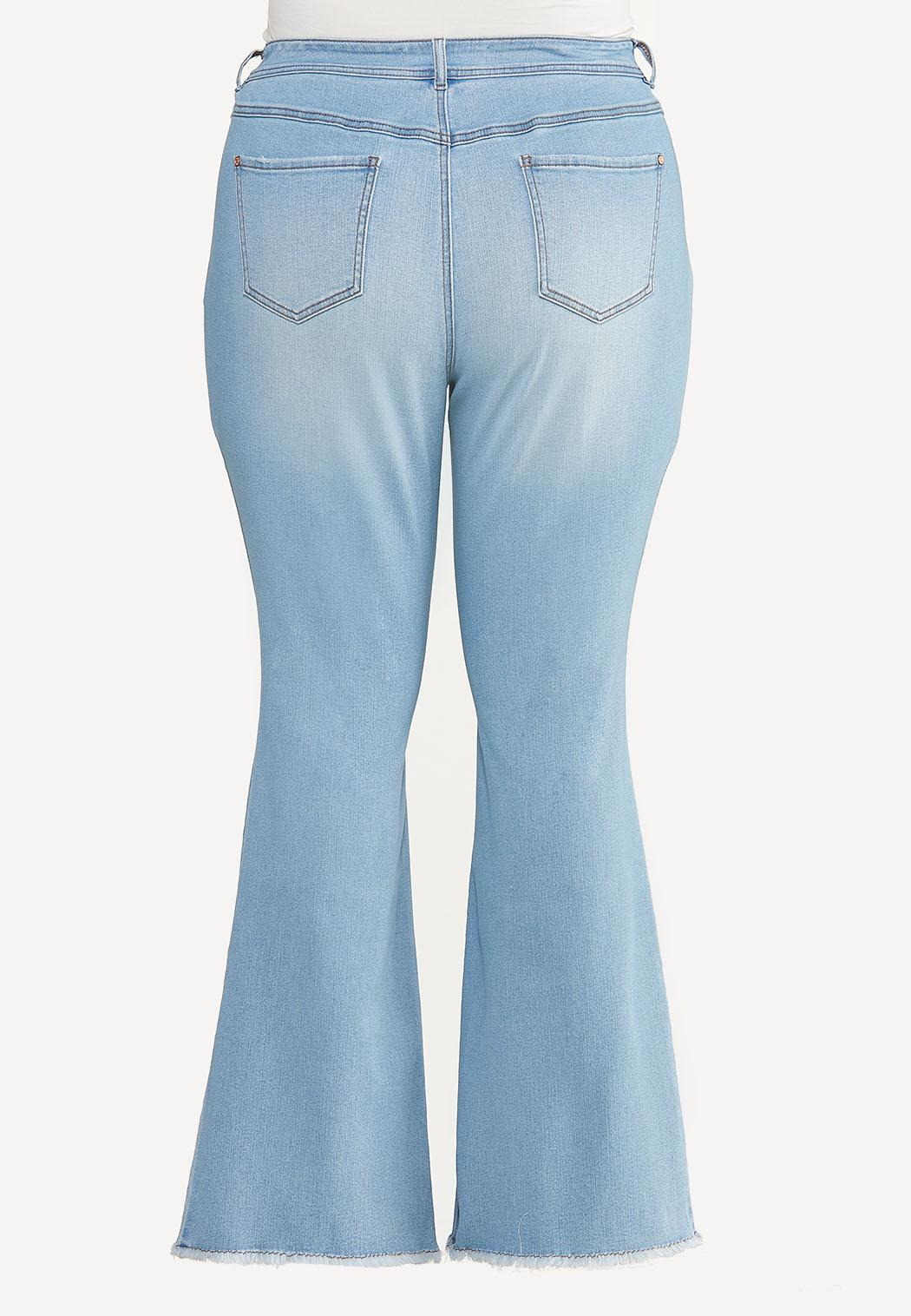 Plus Size High Rise Flare Jeans (Item #44596832)
