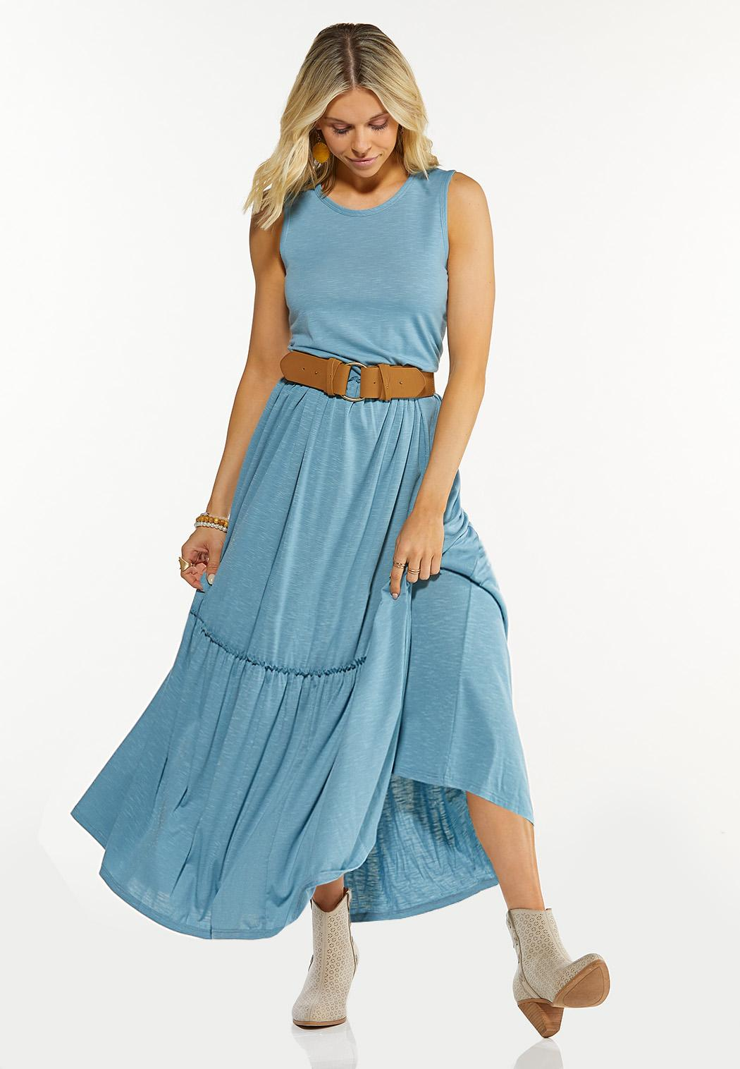 Solid Tiered Maxi Dress (Item #44597005)