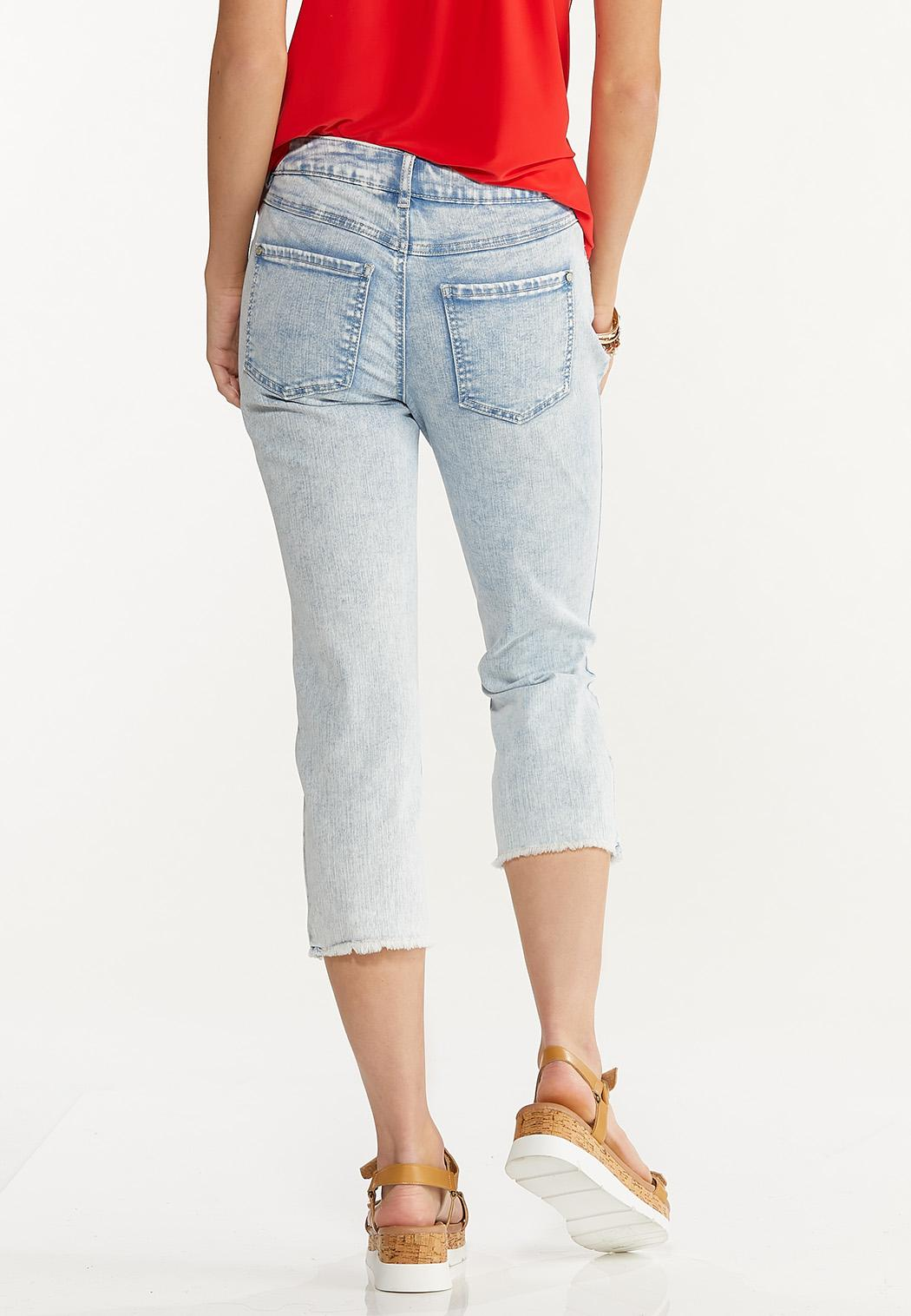 Cropped Distressed Girlfriend Jeans (Item #44598243)