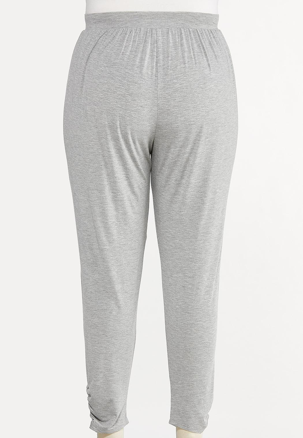 Plus Size Gray Ruched Pants (Item #44598362)