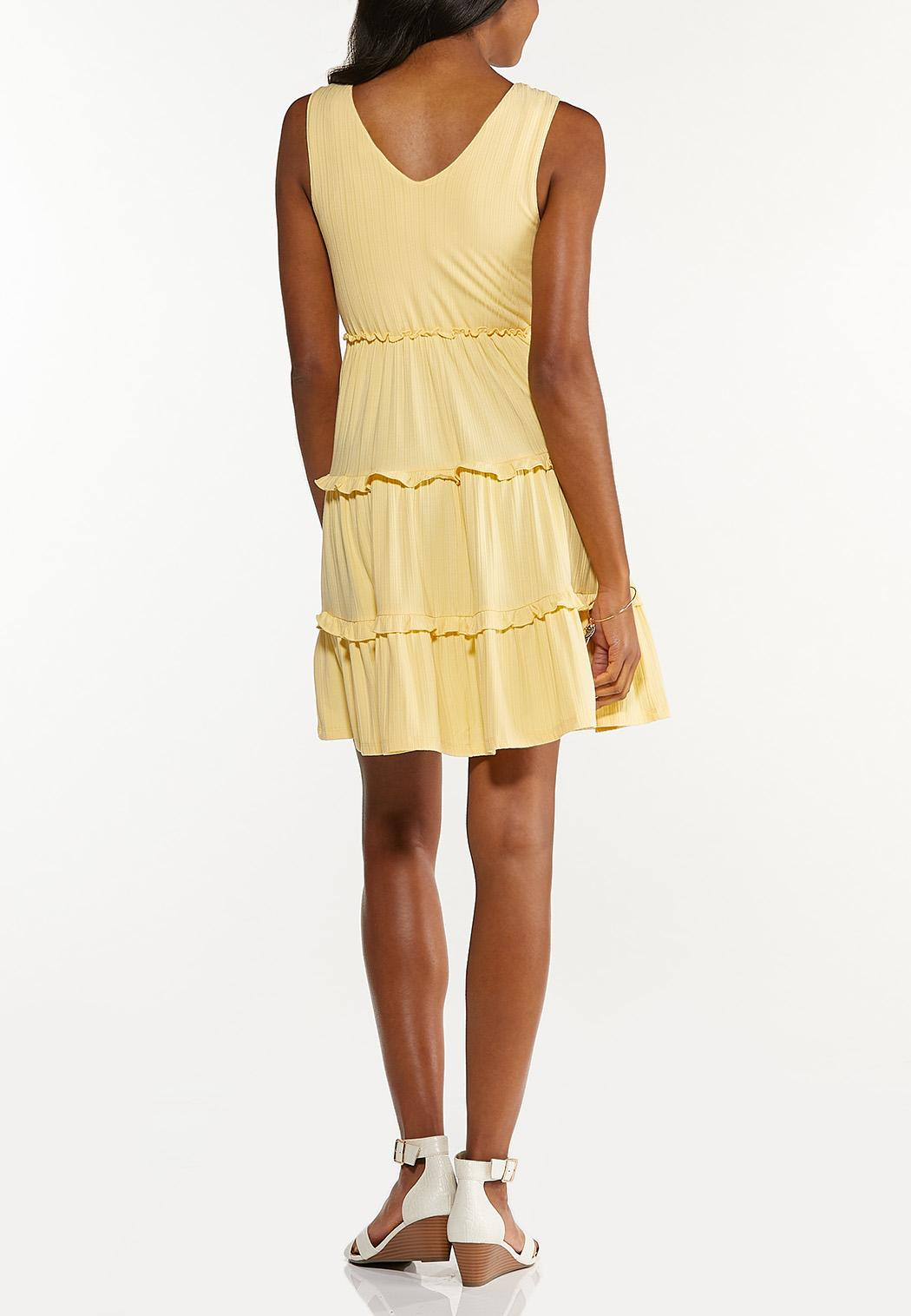 Yellow Tiered Babydoll Dress (Item #44598443)