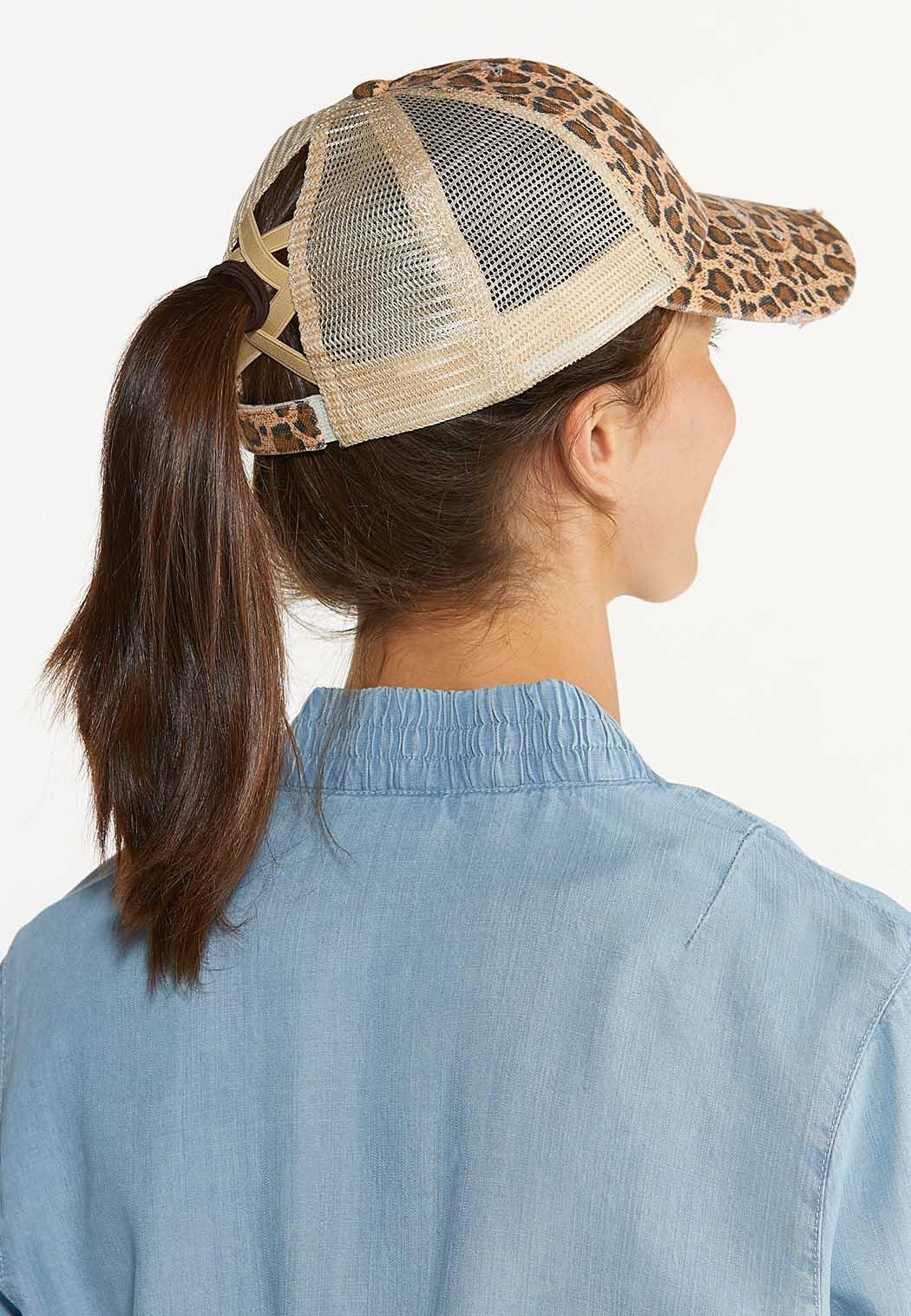 Leopard High Ponytail Hat (Item #44598477)