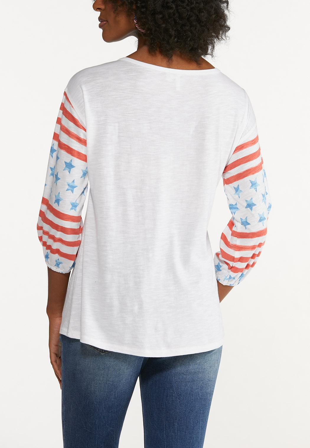 Plus Size Stars And Stripes Top (Item #44599022)