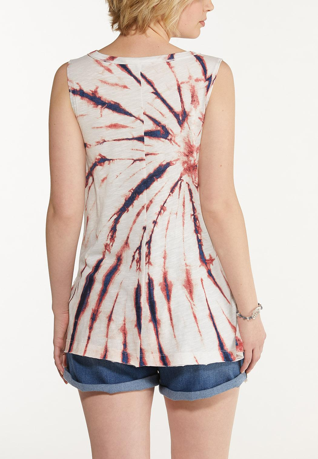 Plus Size Tie Dye Tank Top (Item #44599180)