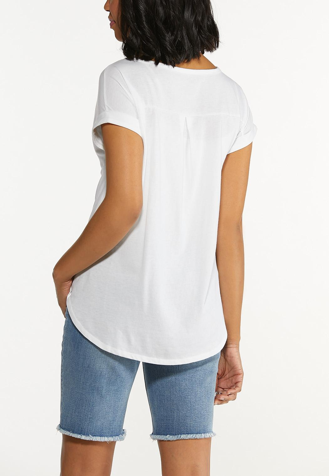Solid Rolled Cuff Tee (Item #44600465)