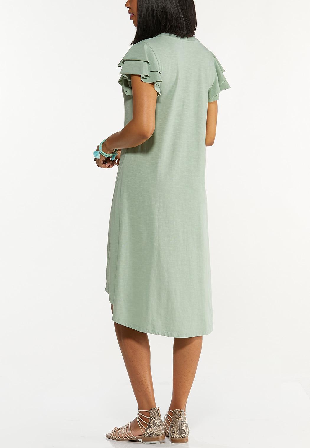 Flutter Sleeve Shirt Dress (Item #44600743)