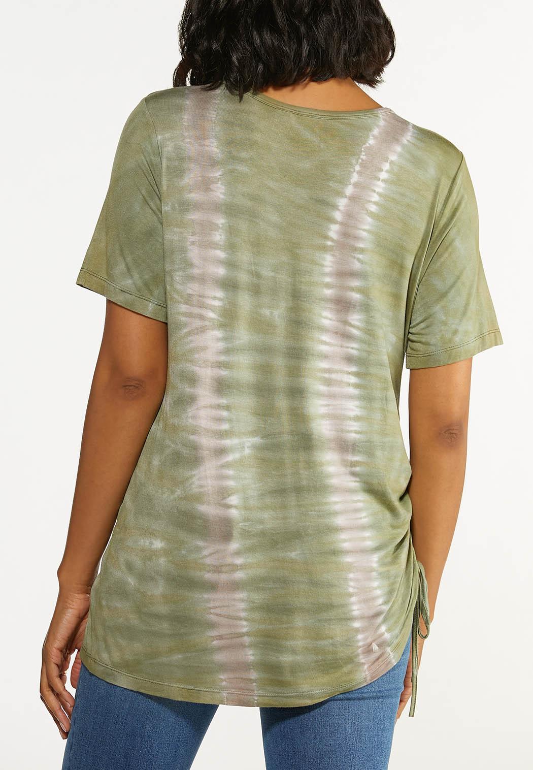 Plus Size Scrunched Tie Dye Tee (Item #44601573)