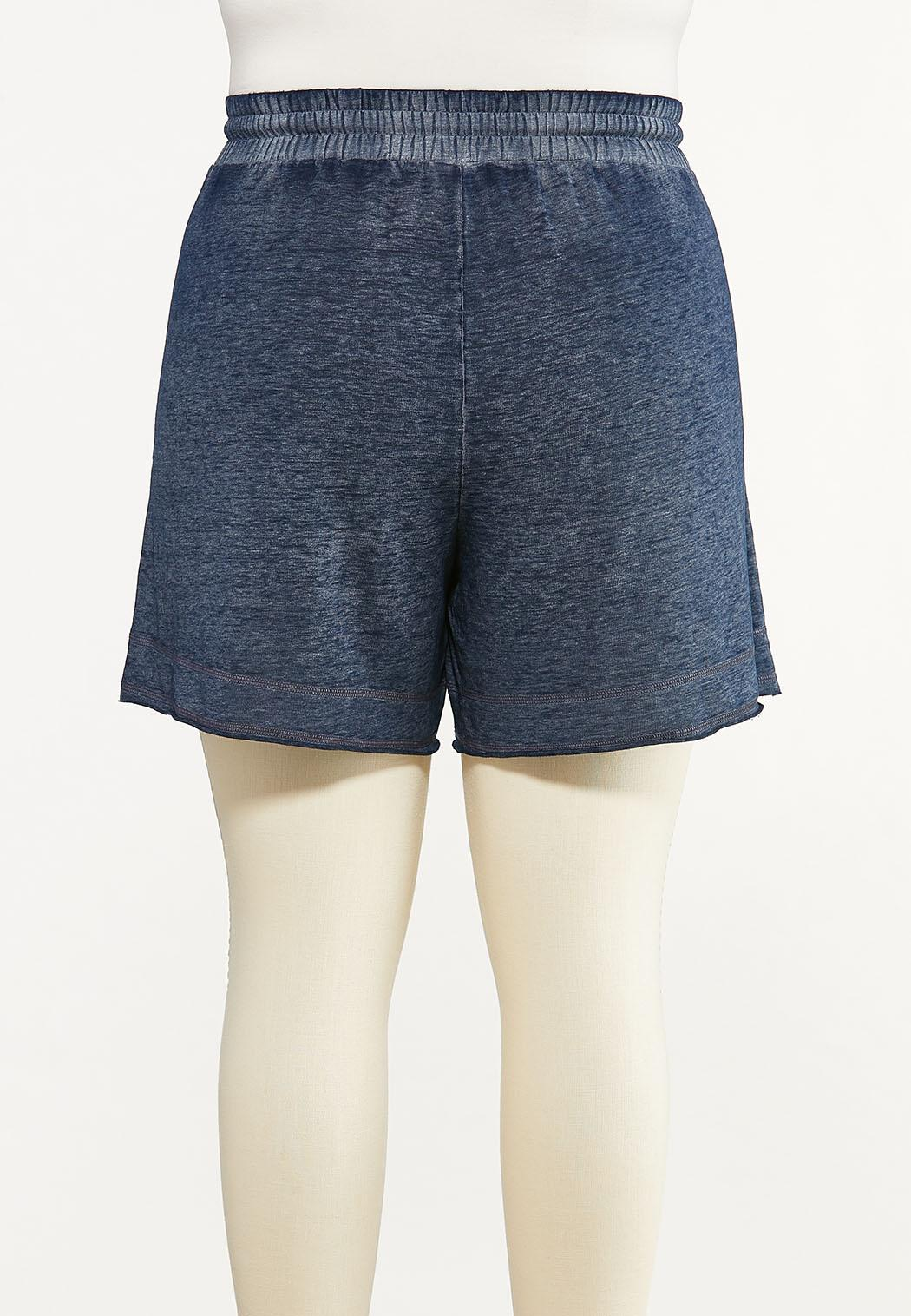 Plus Size Faded Navy Active Shorts (Item #44602582)