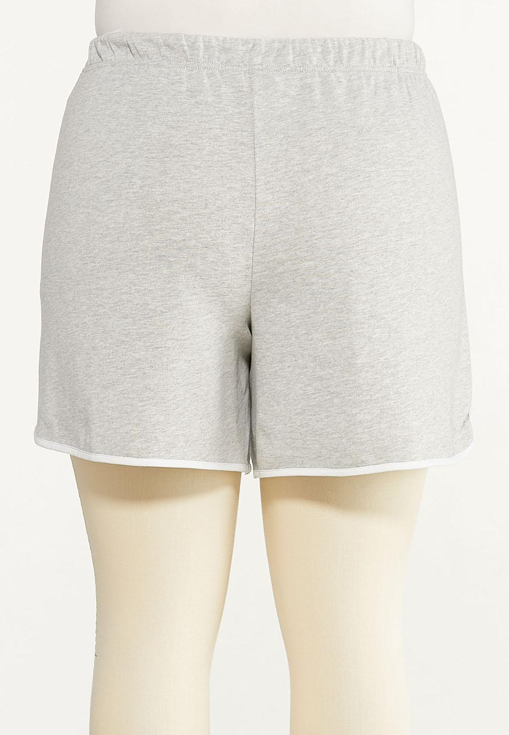Plus Size French Terry Dolphin Shorts (Item #44602610)