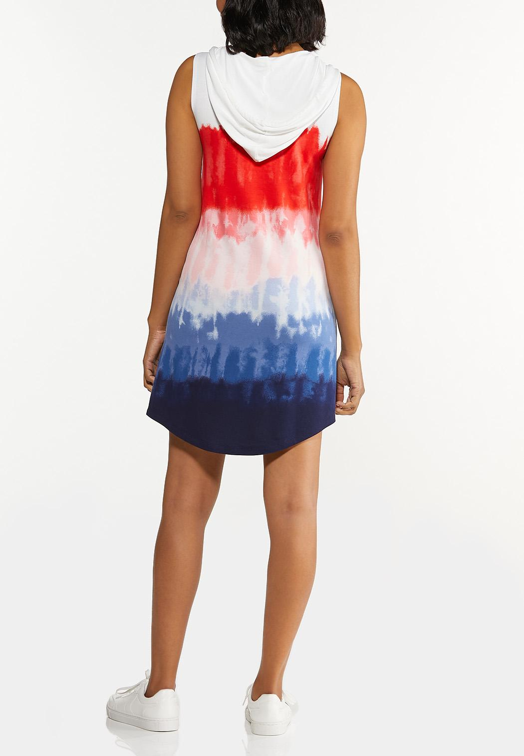 Plus Size Tie Dye French Terry Dress (Item #44602737)