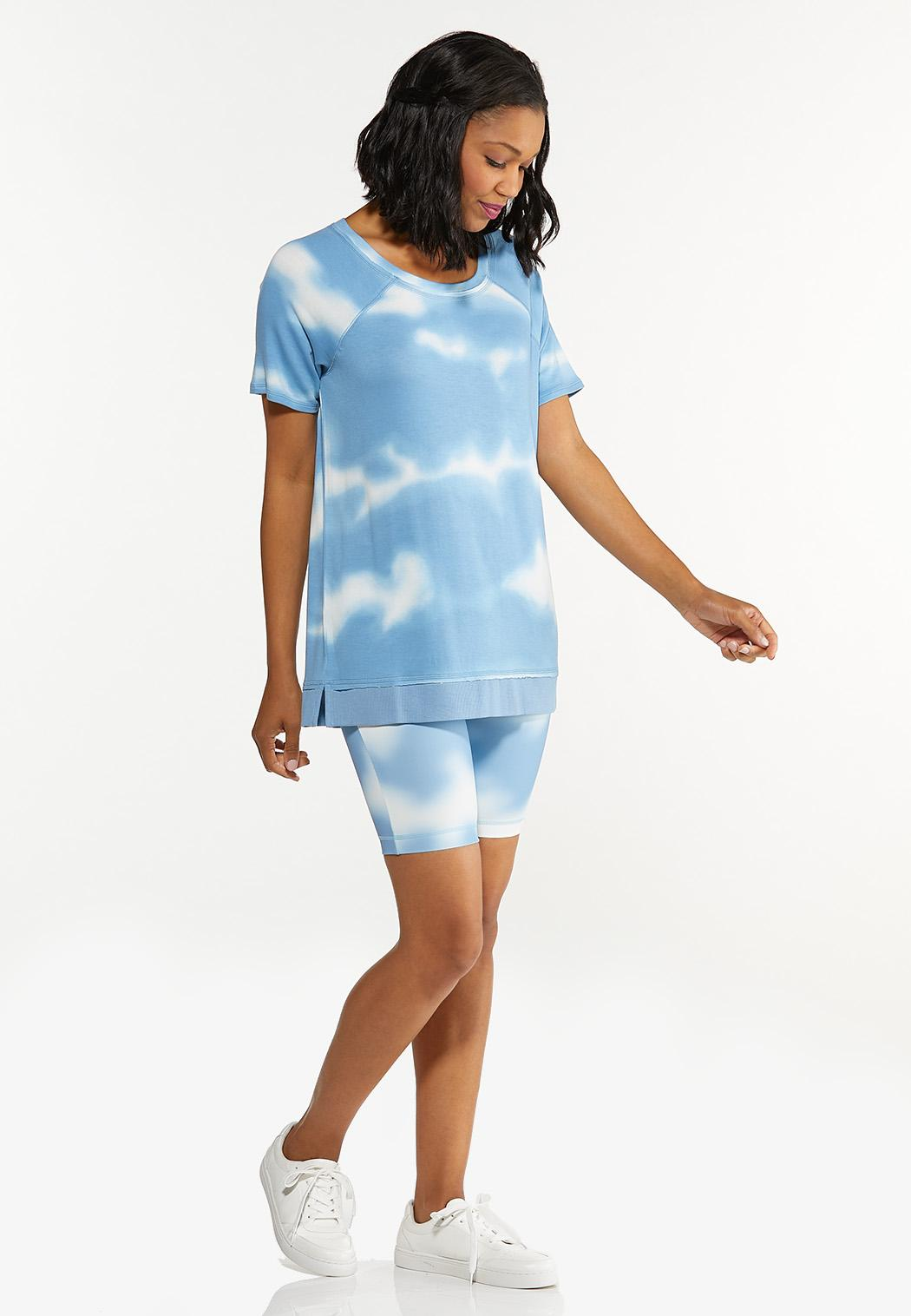 Plus Size Cloud Tie Dye Top (Item #44602992)