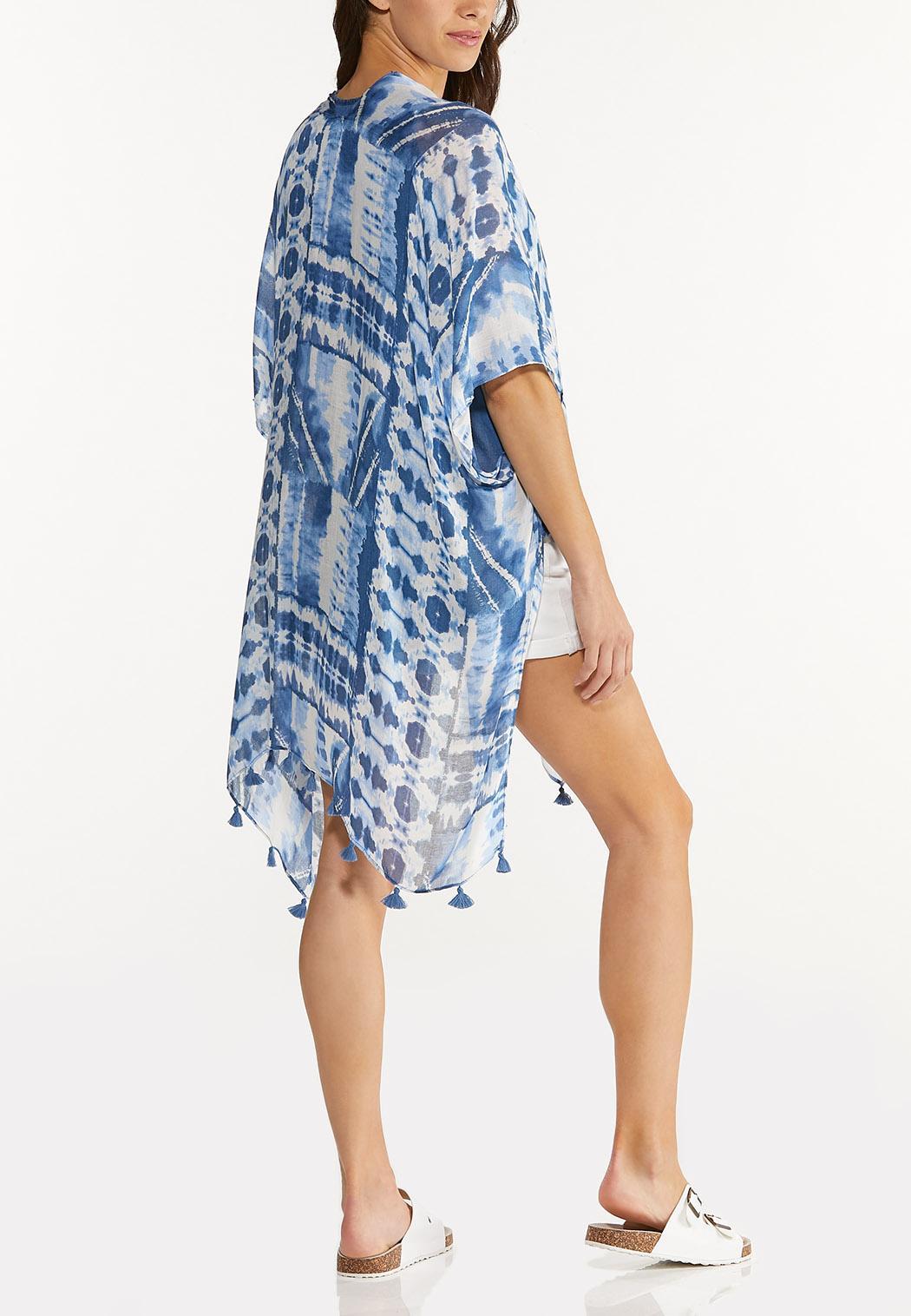 Blue Tie Dye Kimono (Item #44603943)