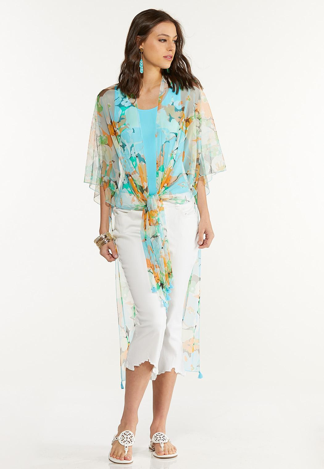 Floral Gauze Kimono (Item #44603962)