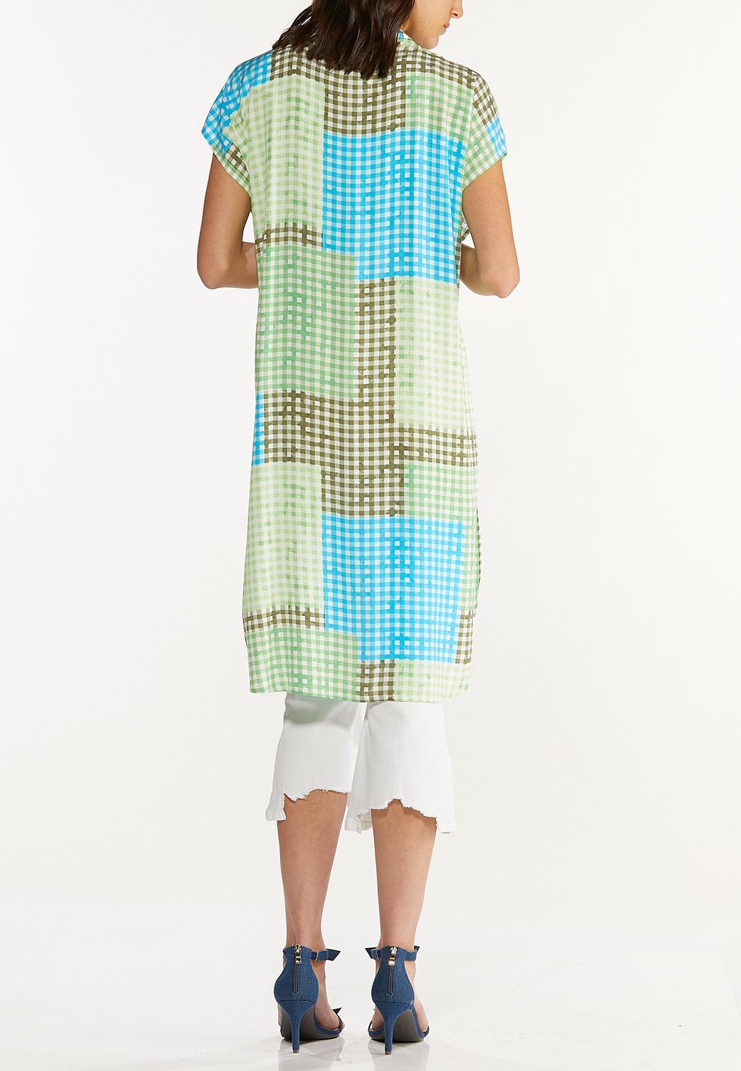 Gingham Patchwork Kimono (Item #44603998)