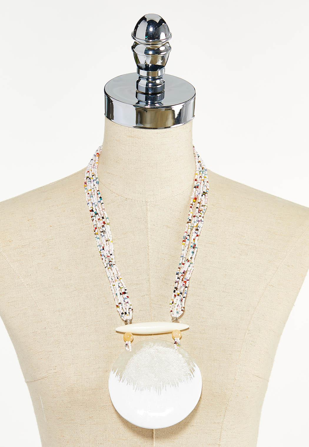 Pearly White Seed Bead Necklace (Item #44605099)