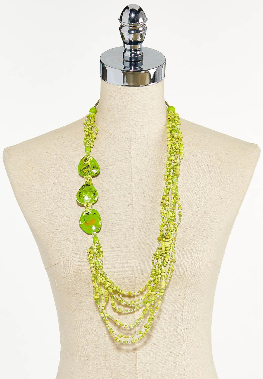 Mixed Wood Resin Bead Necklace (Item #44605101)