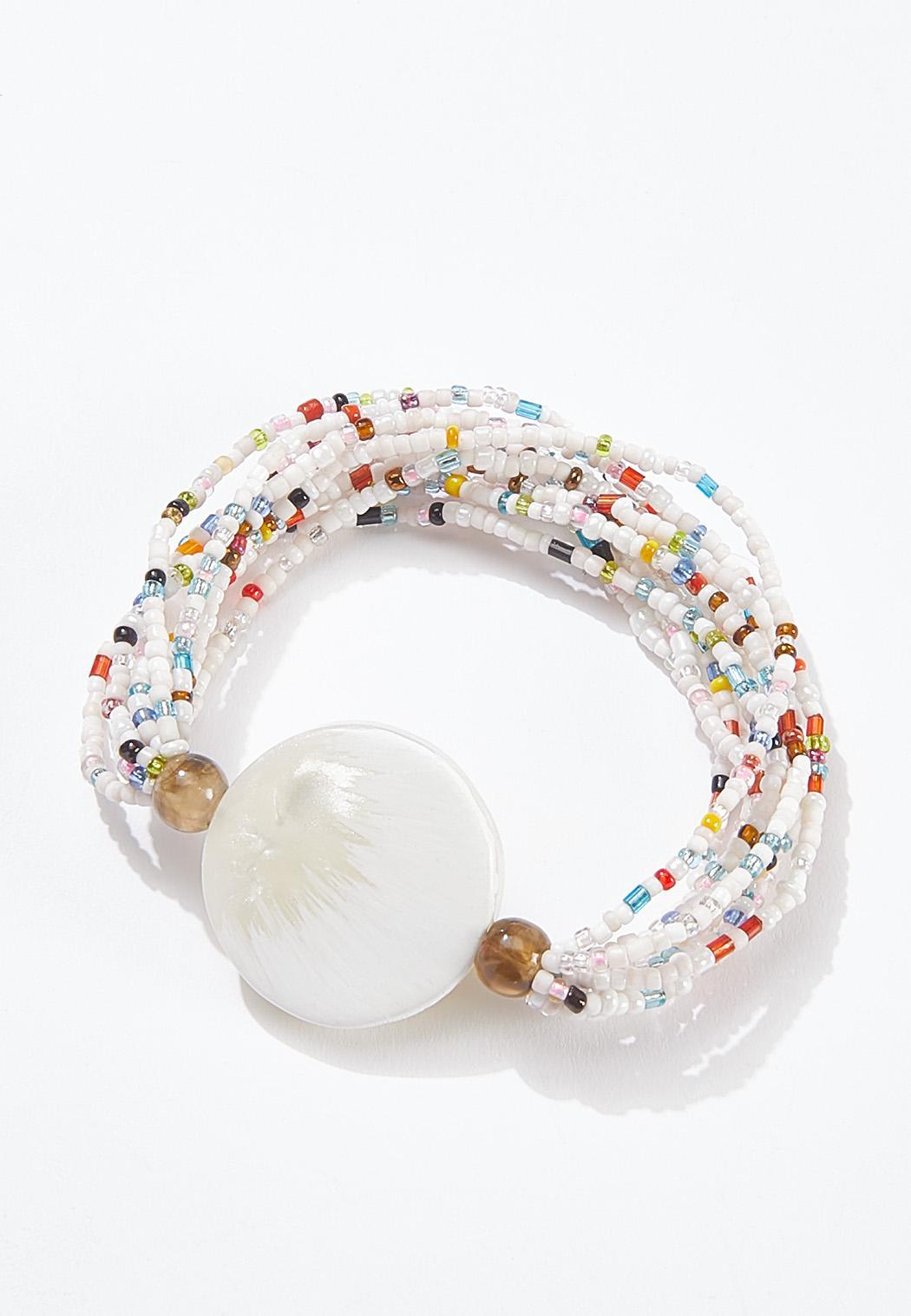 Beaded Resin Disc Bracelet (Item #44605111)