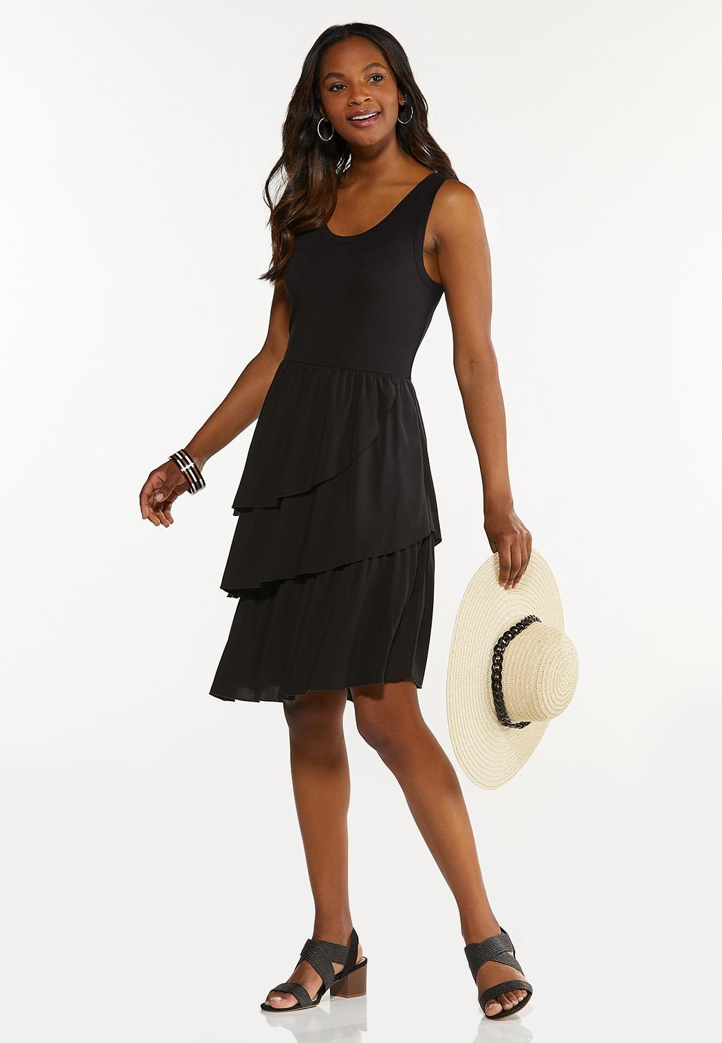 Plus Size Tiered Tank Dress (Item #44605335)