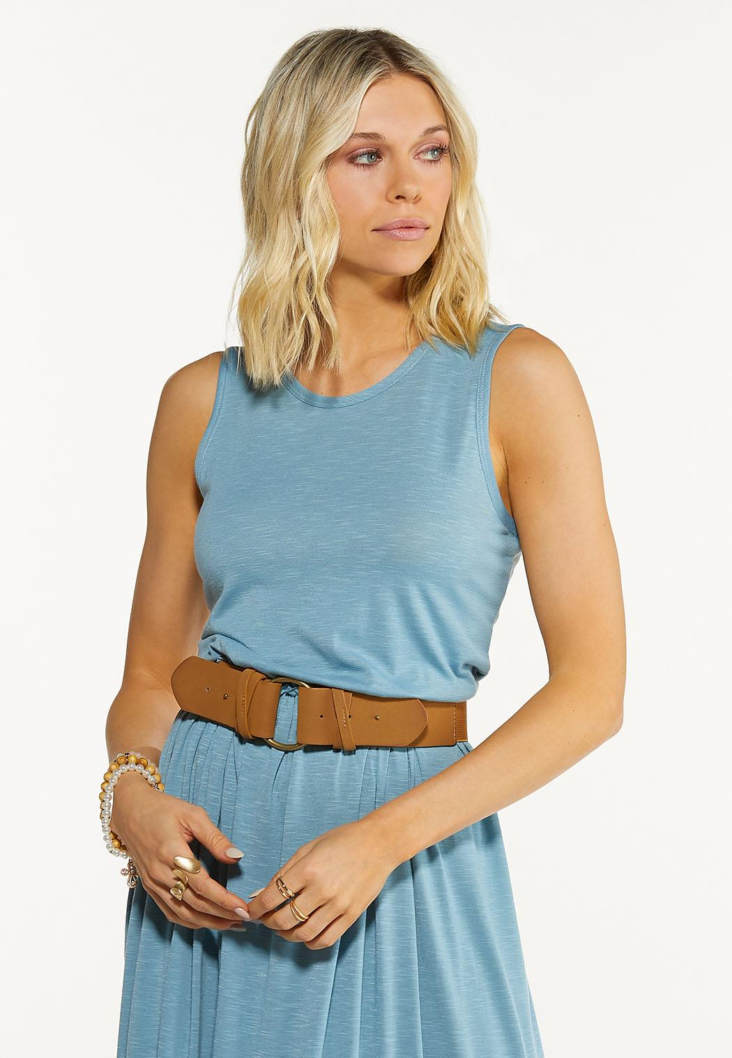 Plus Size Double Fold Stretch Belt (Item #44605387)