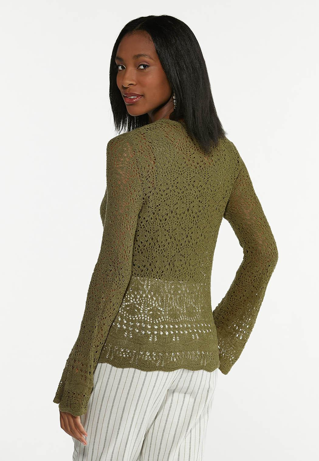Olive Ruched Sweater (Item #44605623)